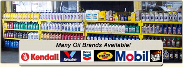 all major oil brands available